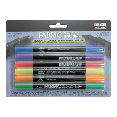FABRIC BALL AND BRUSH 6 PIECE SET C