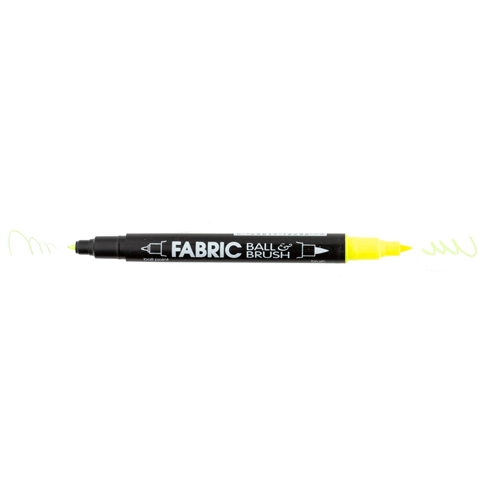 FABRIC BALL AND BRUSH - FLUORESCENT COLORS