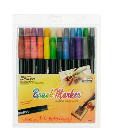 BRUSH MARKER 24 PIECE SET
