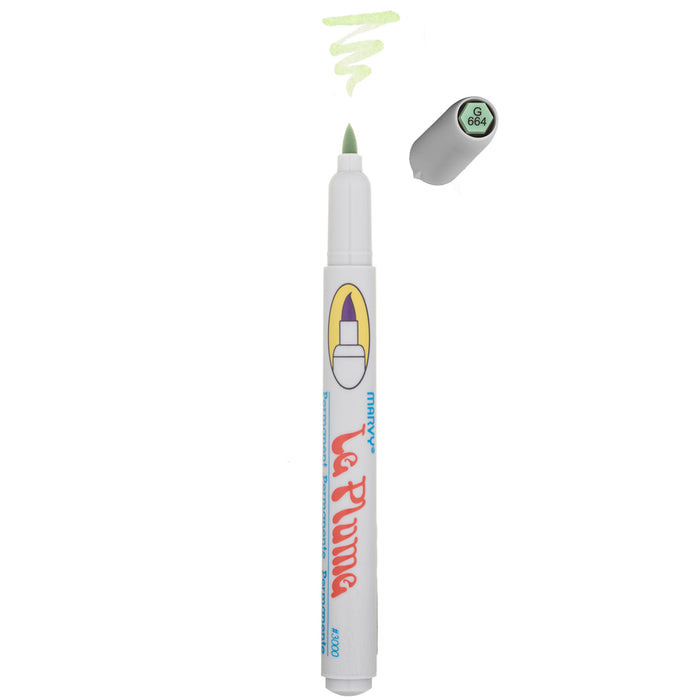 LE PLUME PERMANENT MARKERS - GREENS