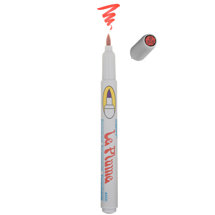 LE PLUME PERMANENT MARKERS - REDS