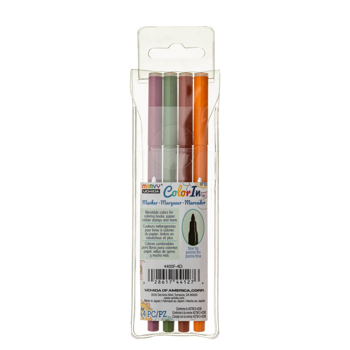 COLOR IN FINE MARKER - 4 PC SETS - Marvy Uchida