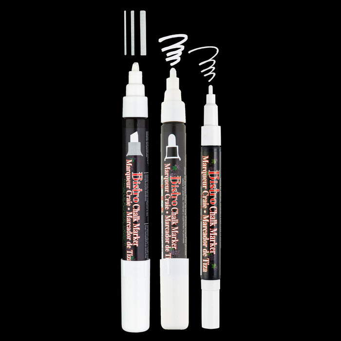 BISTRO CHALK MARKER COMBO CHISEL, BROAD AND FINE SET