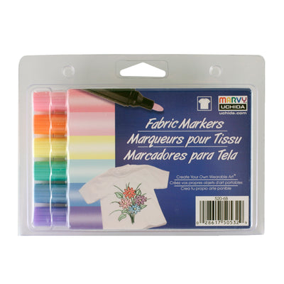 Copy of FABRIC MARKER BOLD TIP PASTEL SET