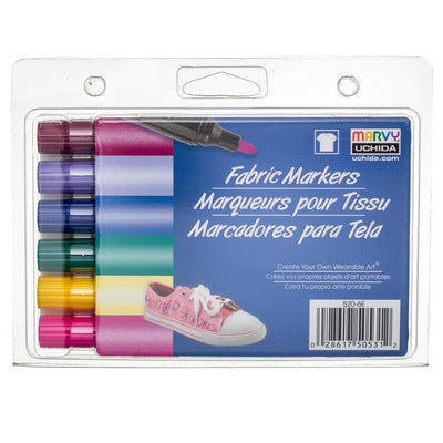 FABRIC MARKER BOLD TIP - BRIGHT SET