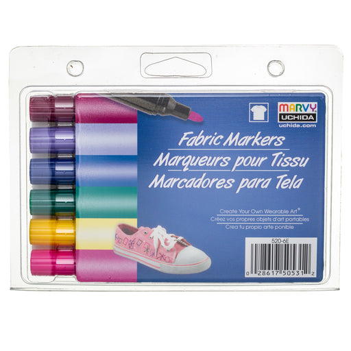 FABRIC MARKER BOLD TIP - BRIGHT SET - Marvy Uchida