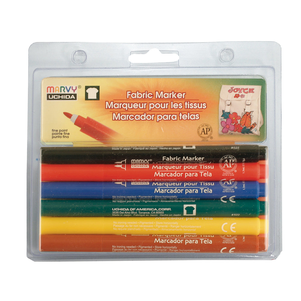 FABRIC MARKER FINE SETS - Marvy Uchida