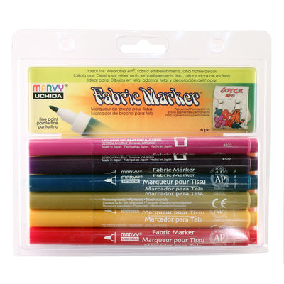 FABRIC MARKER FINE TIP - SET D