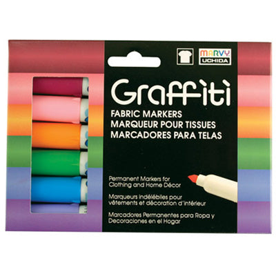 GRAFFITI FABRIC MARKER SETS - Marvy Uchida