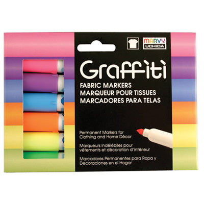 GRAFFITI FABRIC FLUORESCENT SET