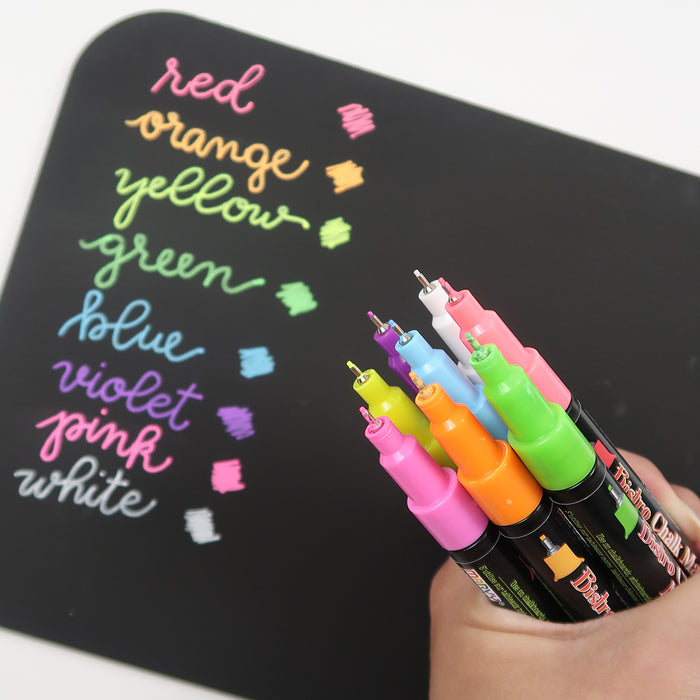 BISTRO CHALK MARKER EXTRA FINE POINT SET 4A - Marvy Uchida