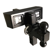 Load image into Gallery viewer, Lighted DUAL BALL Adjustable Hitch 17K- #HWADJDBM Tow Hitch