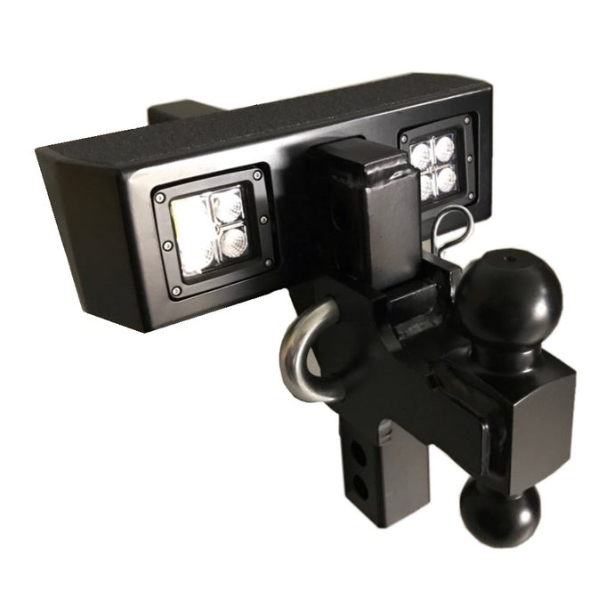 Lighted DUAL BALL Adjustable Hitch 17K- #HWADJDBM Tow Hitch
