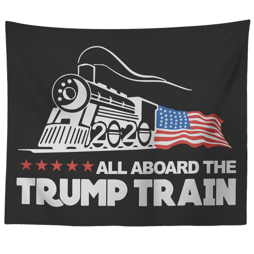 Trump Train 2020 Wall Tapestry