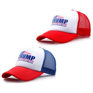 Trump MAGA Trucker Hat USA Flag