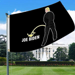 Trump Urinates Biden Flag