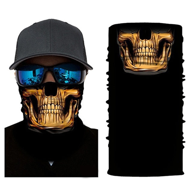 Gold Skull Face Mask