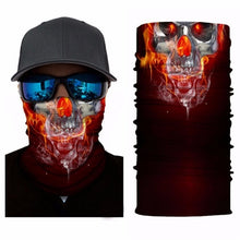 Load image into Gallery viewer, Fire Skull Face Mask