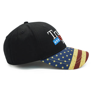 Trump 2020 Vintage US Flag Hat