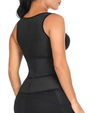 LUX LATEX VEST - SINGLE BELT