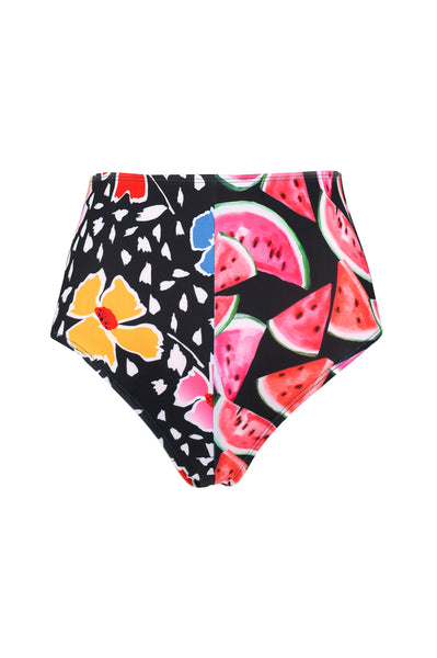 GEN HIGH WAISTED BIKINI BOTTOMS, Floral Melon Split - Summer People Swim
