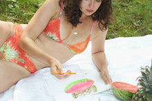 Load image into Gallery viewer, KIKI TRIANGLE BRALETTE, Tie Dye Split - Summer People Swim