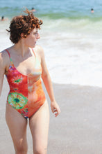 Load image into Gallery viewer, MEL V-NECK ONE PIECE, Tie Dye Split - Summer People Swim