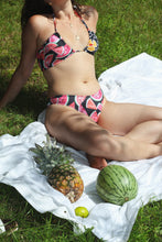 Load image into Gallery viewer, OYA TIE FRONT BANDEAU, Floral Melon Split - Summer People Swim