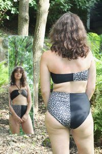 OYA TIE FRONT BANDEAU, Leopard Split - Summer People Swim