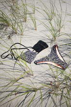 Load image into Gallery viewer, OYA TIE FRONT BANDEAU, Leopard Split - Summer People Swim
