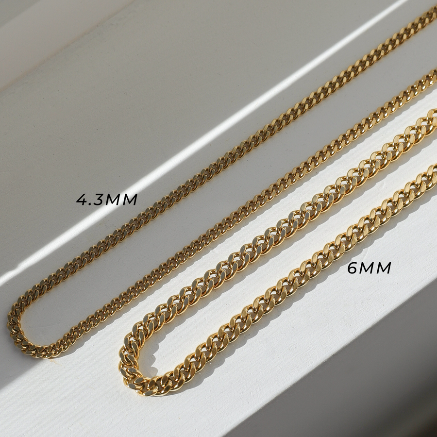 4mm Curb Chain Necklace