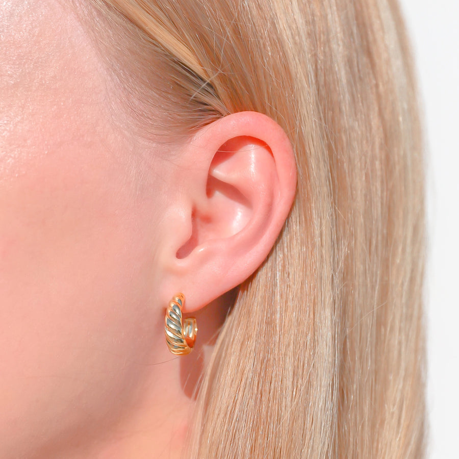croissant dome earrings