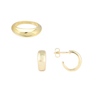 Dome Ring + Dome Hoop Set