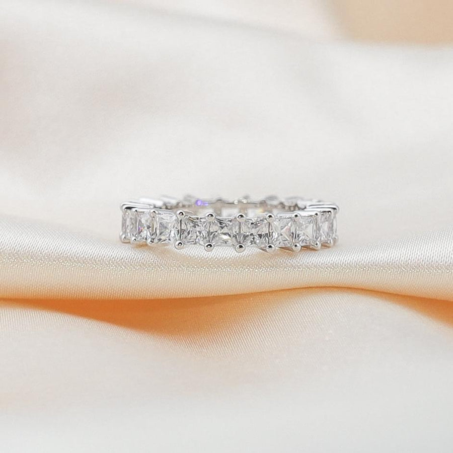 princess cut eternity ring