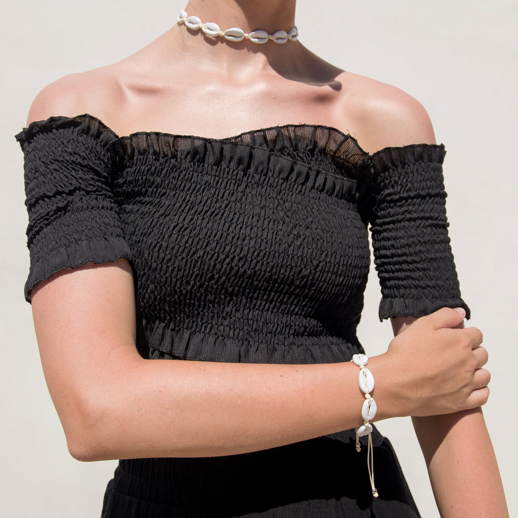 White Shell Choker
