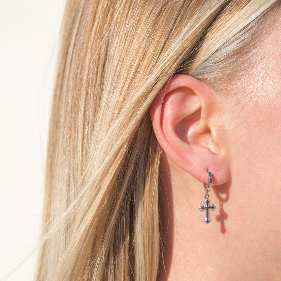 Small Cross Hoops