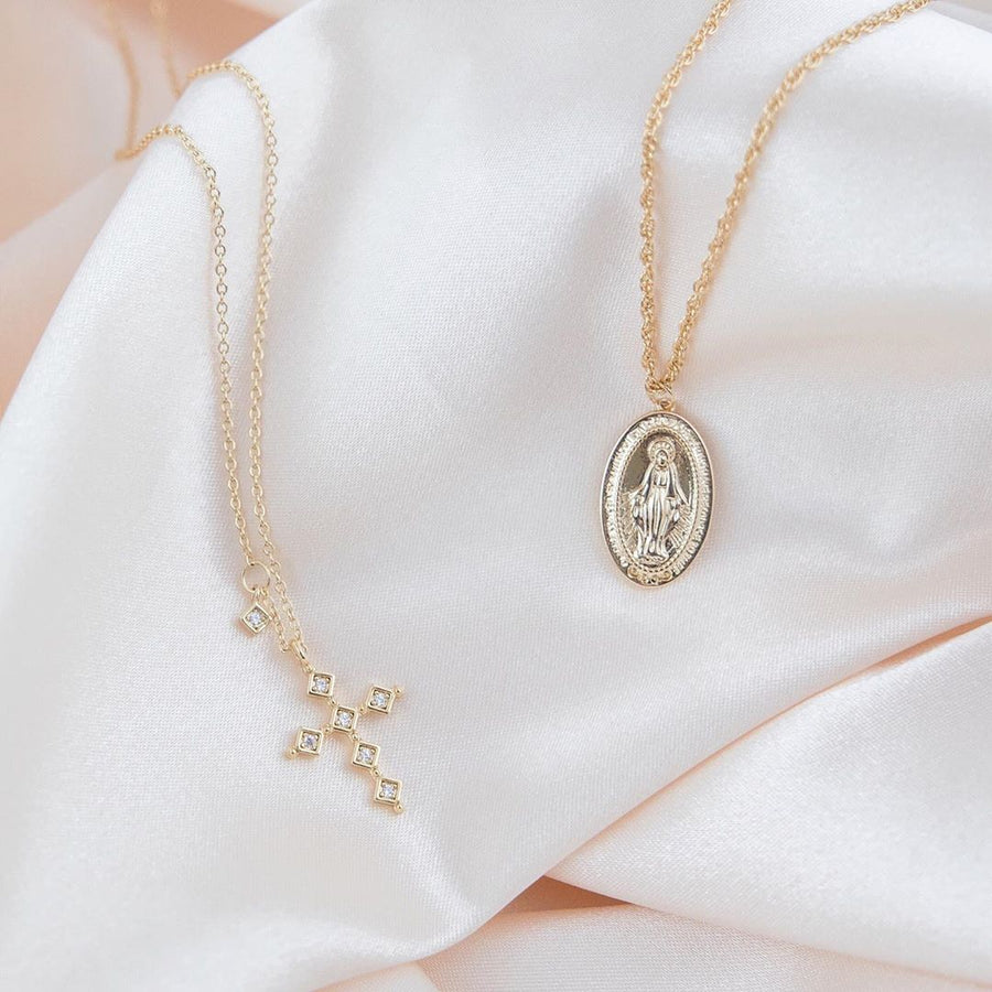 virgin mary necklace