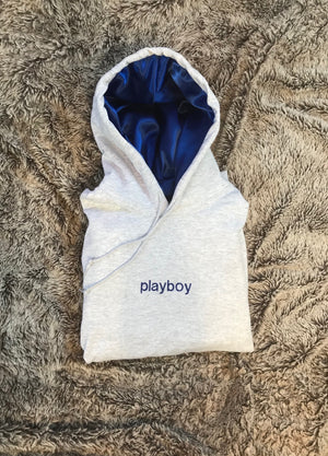Playboy - Royal Blue Silk Hoodie