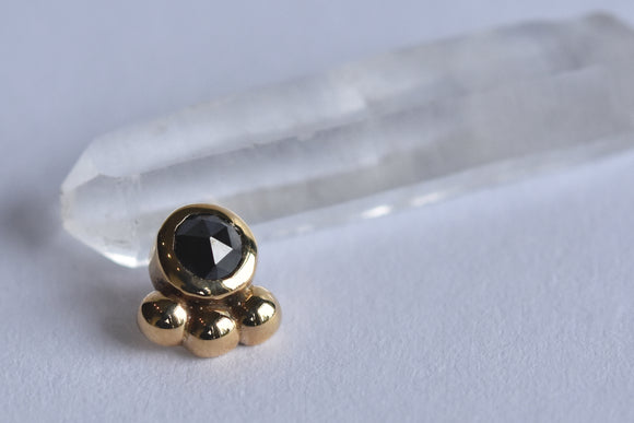 3mm Dani Bezel - Rose Cut Black Diamond - End Only