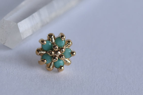 5mm Arya Star - Faceted Turquoise - Pressure Fit End Only