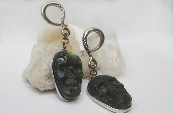 Labradorite Skull Weights