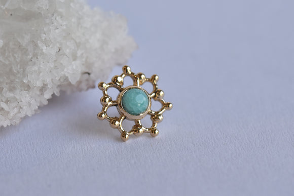 3mm Krystal - Amazonite - Pressure Fit End Only