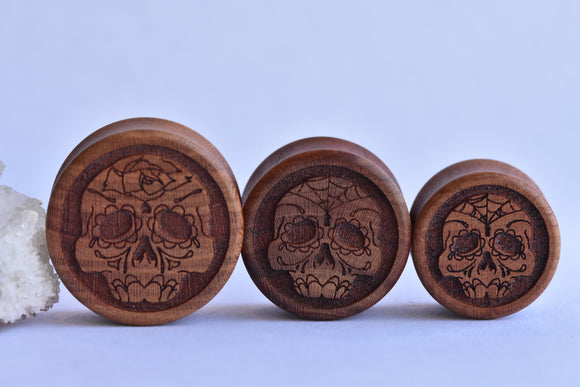 Omerica Organic Day of the Dead DF plugs - Pair
