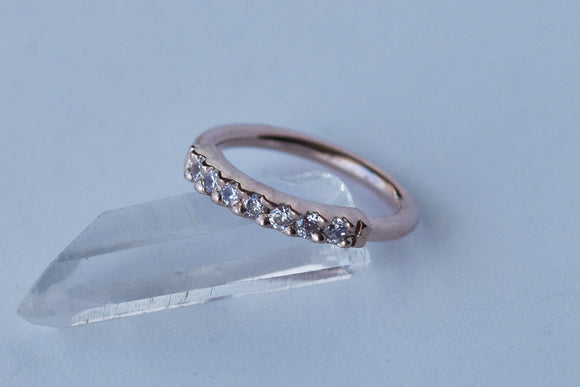 Outside Fixed Gem Ring - Clear CZ