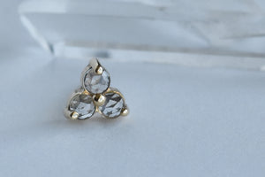 Trinity - Rose Cut White Topaz