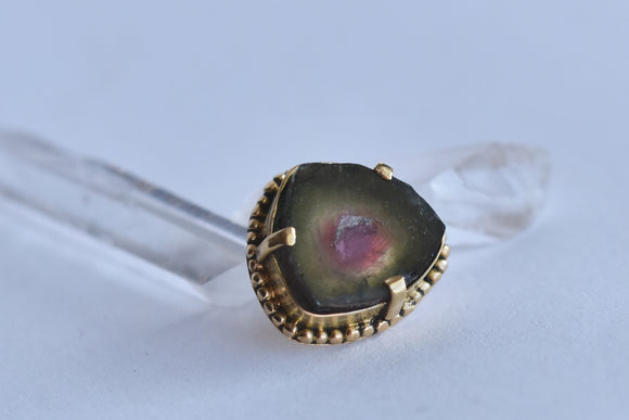 Watermelon Tourmaline - Pressure Fit End Only