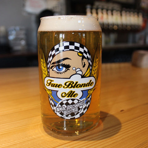 True Blonde Can Glass