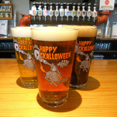 Skalloween Pint Glass
