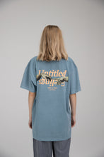 "Load image into Gallery viewer, ""Creazione di adamo"" T-Shirt Greyish Blue"