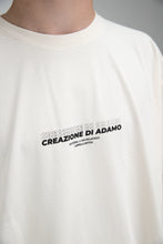 "Load image into Gallery viewer, ""Creazione di adamo"" T-Shirt Ecru"